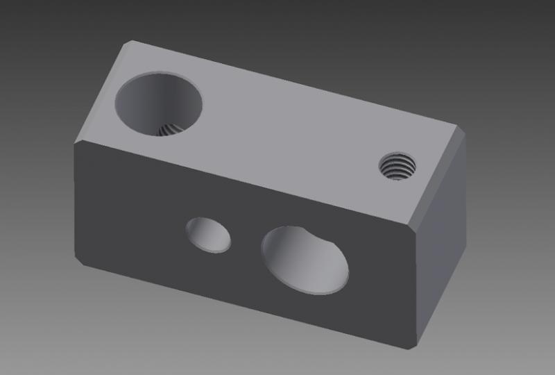 Extruder Hot End Block Kit
