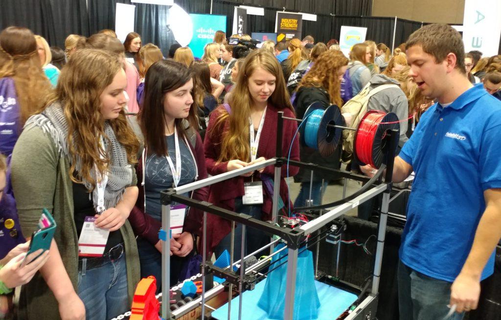 HighSchool girls introduced to ReliaBuild 3D printing SheTech